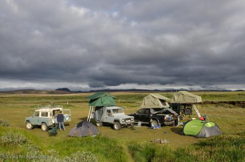 Icelandic campsite